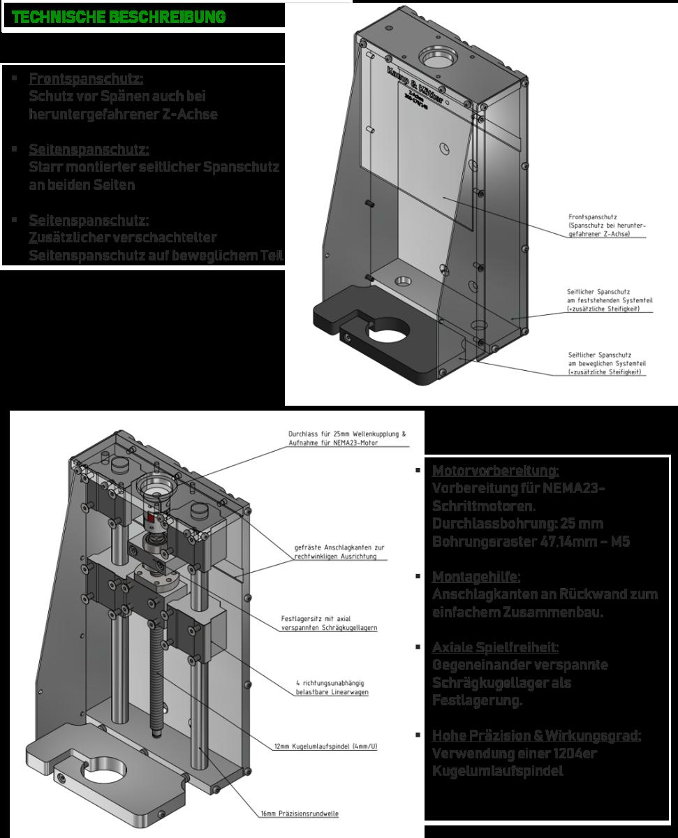 Z-Achse Technische Beschreibung